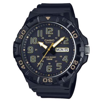 CASIO 旋轉計時潛水風三針運動錶(MRW-210H-1A2)-黑X黃時針53.1mm