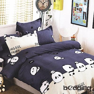 BEDDING-柔絲絨6尺雙人加大薄床包涼被組-好伙伴