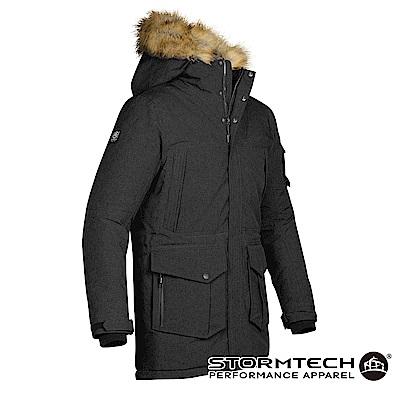【加拿大STORMTECH】EPK-2頂級全防水透氣極地探險家毛圈長版大衣-男-黑