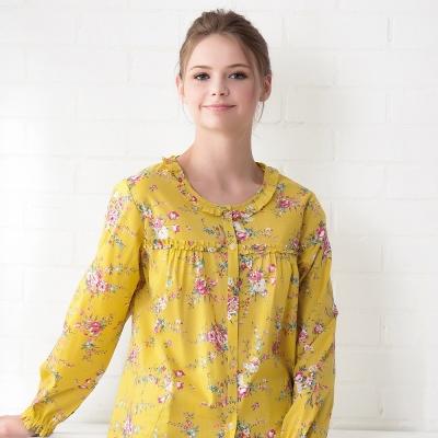 羅絲美睡衣 -繽紛盛宴長袖褲裝睡衣(繽紛黃)