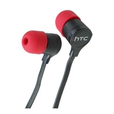 HTC 新版 原廠入耳式線控3.5mm 扁線 黑色耳機