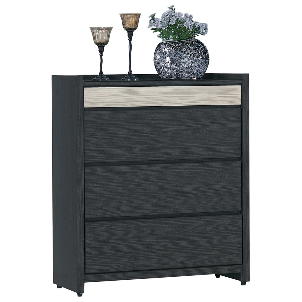 愛比家具 貝克鐵刀木2.3尺功能四斗櫃