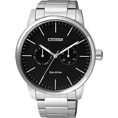 CITIZEN Eco-Drive光動能日曆腕錶(AO9040-52E)-黑/44mm