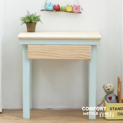 CiS自然行兒童家具 無甲醛-兒童學習桌-一抽 (嬰兒藍)