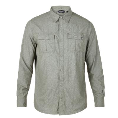 【Berghaus 貝豪斯】男款銀離子透氣抗UV長袖襯衫S05M03-綠