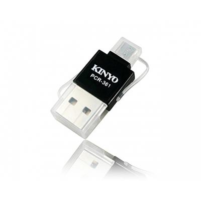 KINYO 雙介面OTG迷你micro SD讀卡機(PCR-361)