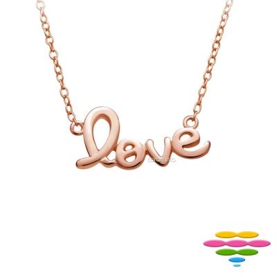 彩糖鑽工坊 桃樂絲 Doris系列 銀鍍玫瑰金項鍊
