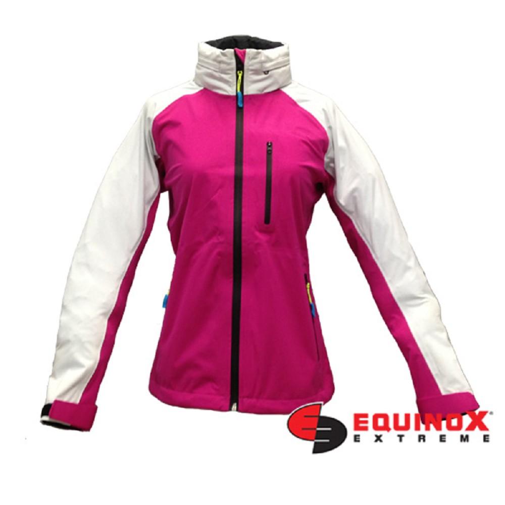 EQUINOX 輕量防水透溼戶外運動風衣-女款桃紅白