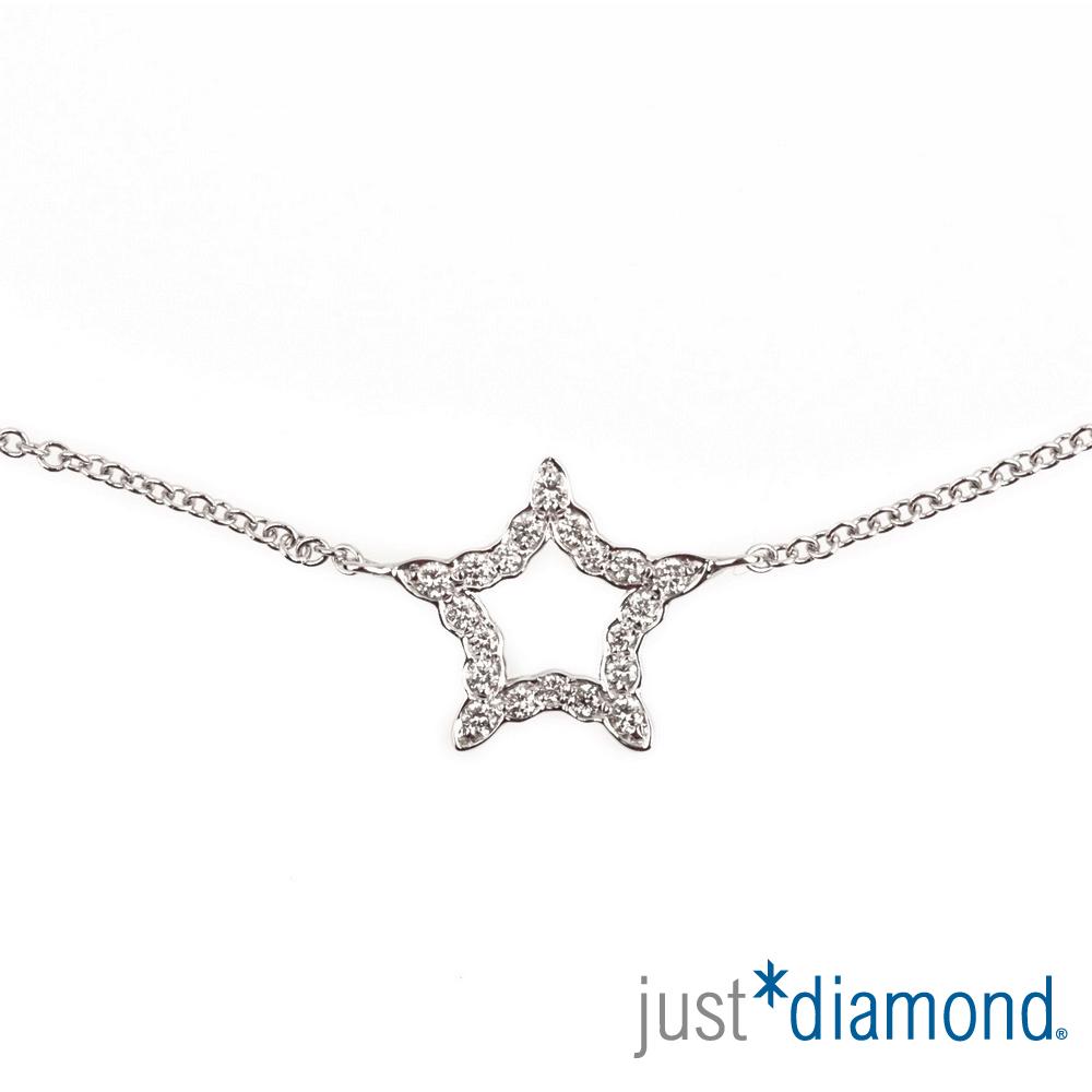 Just Diamond 18K金鑽石手鍊-Shine