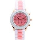 Watch-123 雙色馬卡龍-爆款輕甜時尚果凍腕錶 (10色任選)