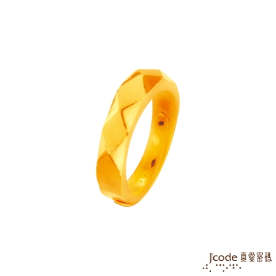 J'code真愛密碼 恆久的愛黃金男戒指