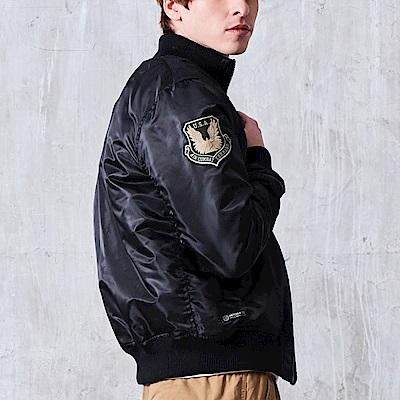 CACO-軍章高領鋪棉MA1外套.情侶款(兩色)-男【MAR087】
