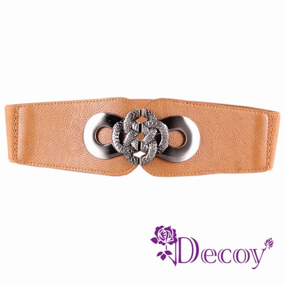 Decoy 蛇紋纏繞 金屬弧形腰封 三色可選