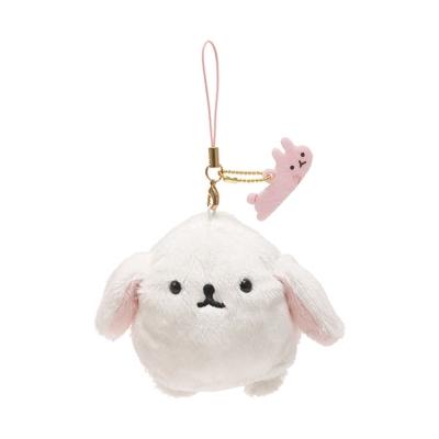 麻糬兔兔子朋友系列毛絨公仔吊飾。白大福