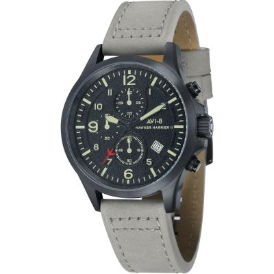 AVI-8 飛行錶 Hawker Harrier II 戰鬥手錶-黑x灰/42mm