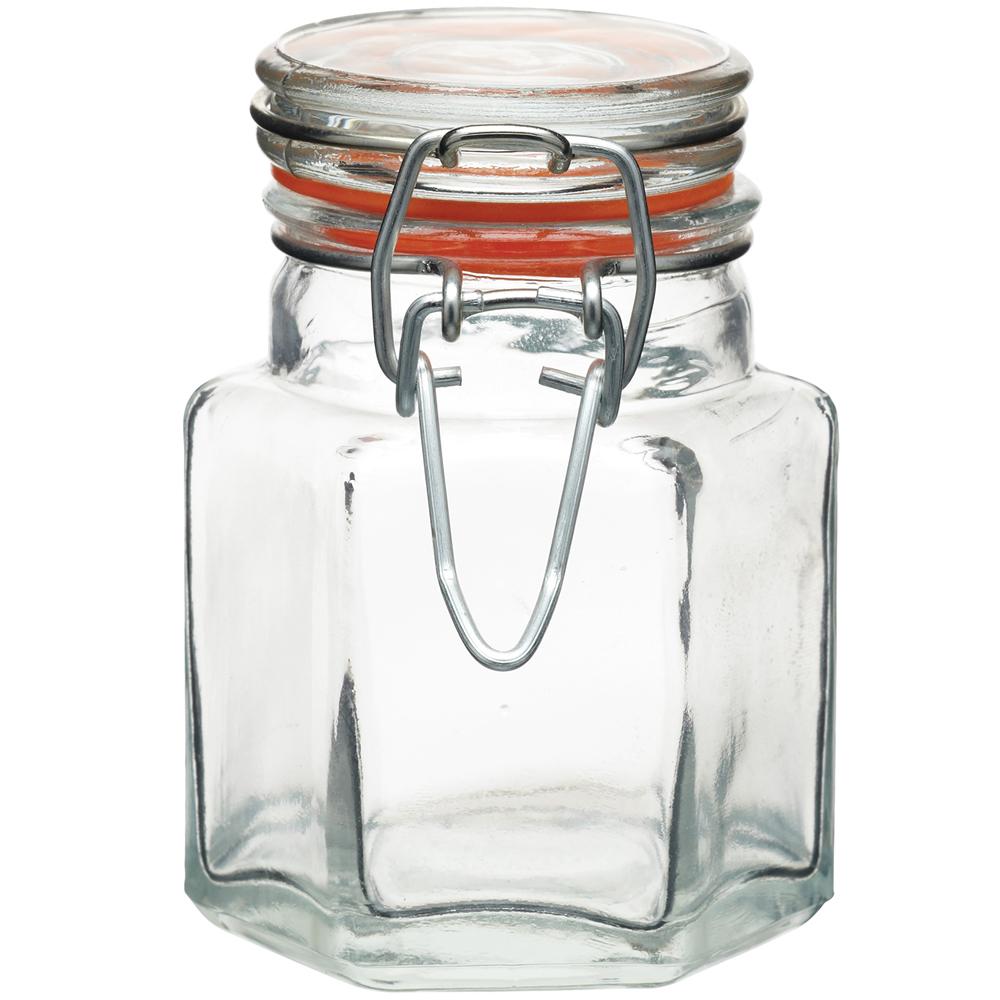 KitchenCraft 六角扣式密封玻璃罐(100ml)
