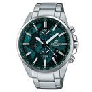 CASIO EDIFICE 世界地圖多功能腕錶(ETD-300D-3A)-綠/46.3mm