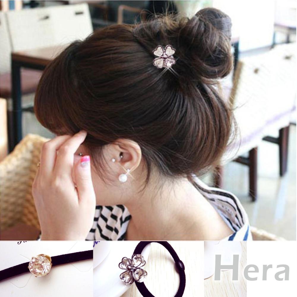 Hera 赫拉 鋯石四葉草大鑽石大彈力髮圈/髮束-兩款