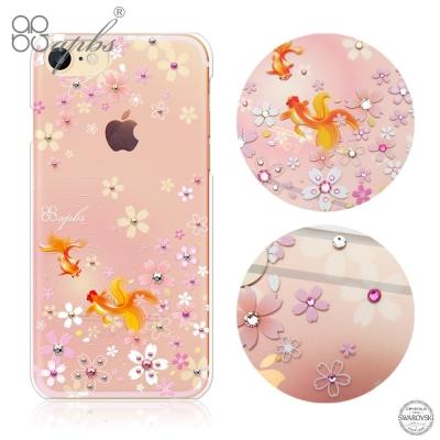 apbs iPhone8/7 4.7吋施華洛世奇彩鑽手機殼-湖櫻夢