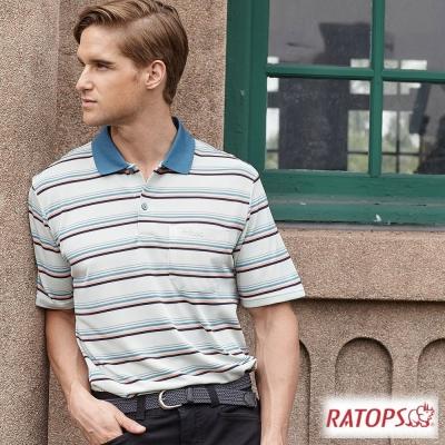【瑞多仕-RATOPS】男 COOLMAX 短袖條紋POLO衫_DB8800