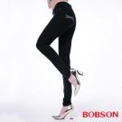 BOBSON 女款高腰膠原蛋白彩色小直筒褲