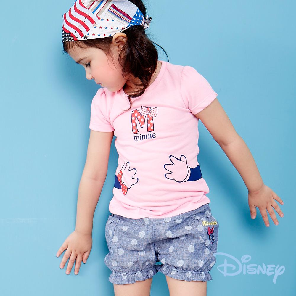 Disney米妮牛仔燈籠短褲深藍