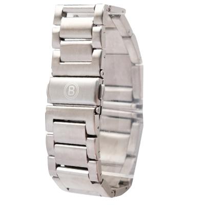 品牌代用 22mm 霧面 白鋼 磨砂 實心316L鋼帶 3排限量 單向按壓