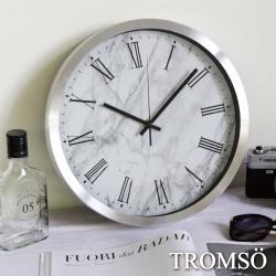TROMSO風尚義大利金屬時鐘-大理石白