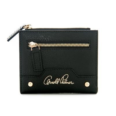 Arnold Palmer- 短夾 Rock style撞色搖滾系列-黑色