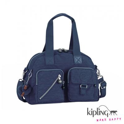 Kipling-手提包-深海藍素面