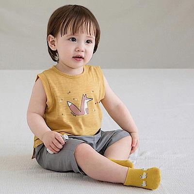 韓國 Happy Prince 防滑拚色圖樣嬰兒襪-三款任選