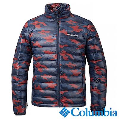 Columbia哥倫比亞 男款 OH700迷彩羽絨夾克-紅藍 UPM54960ZQ