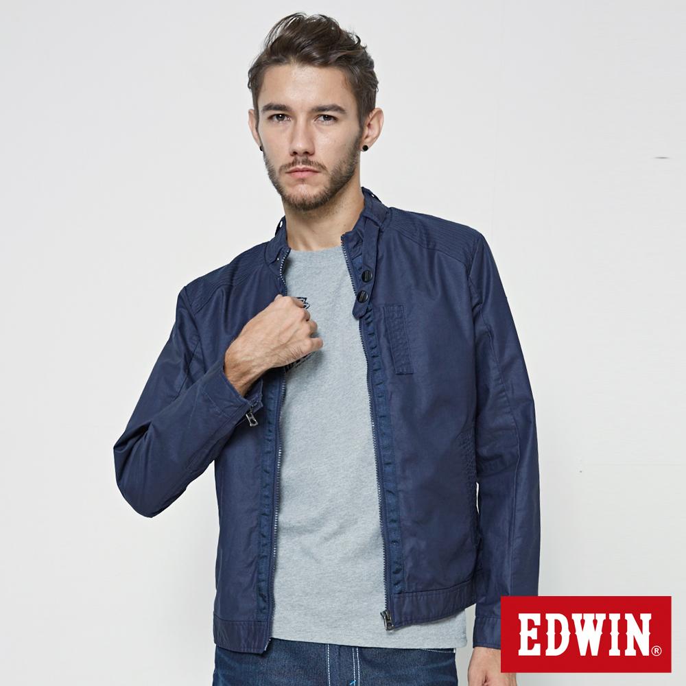 EDWIN 短版風衣外套-男-丈青