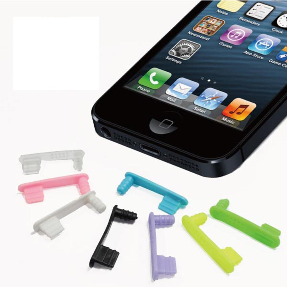 ZIYA iPhone5/5S 一體成形防塵塞-底塞+耳機塞 (炫彩系列) 5入顏色隨機