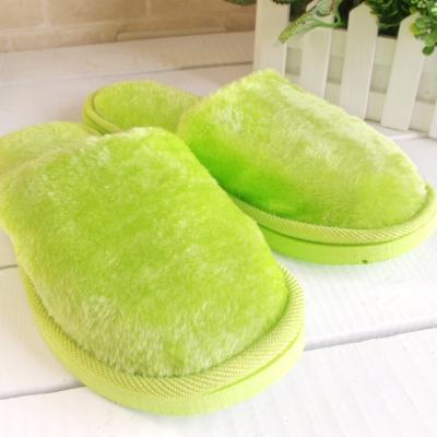 粉彩馬卡龍保暖舒適拖鞋(翠綠色一雙)