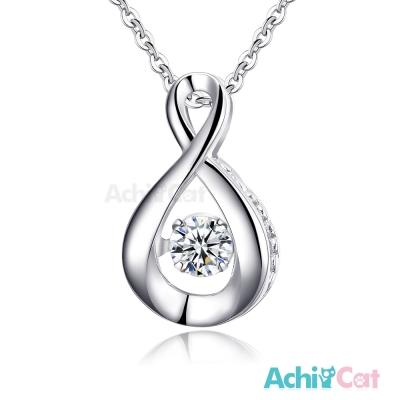 AchiCat 925純銀 跳舞的項鍊 無限愛 愛心 鎖骨鍊