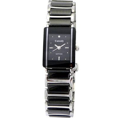 Canody 珍愛時光陶瓷腕錶-黑/17x23mm