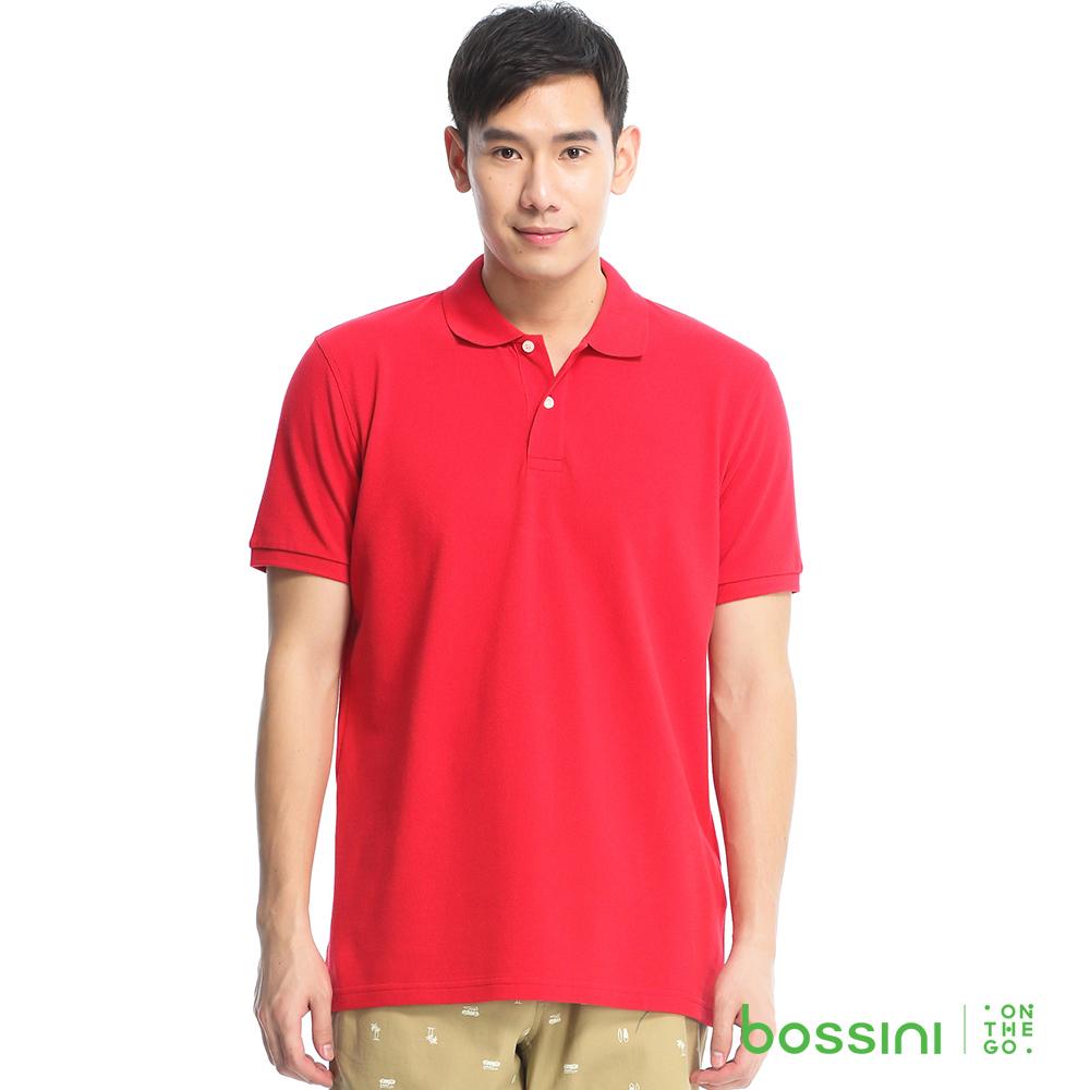 bossini男裝-純棉POLO衫01紅