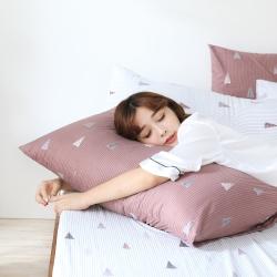 GOODDAY-三角形(棕) - 纖絨棉-防蹣系列-枕