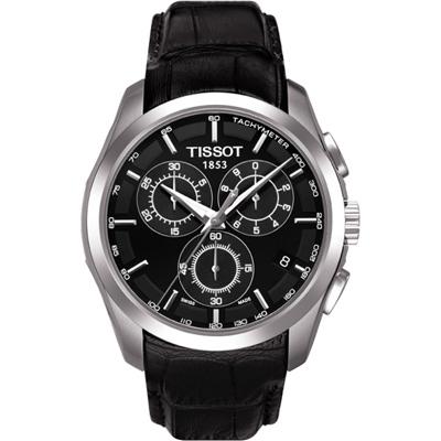 TISSOT Couturier 建構師計時腕錶-黑/39mm