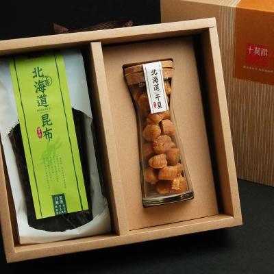 十翼饌 北海道鮮味特賞禮盒(宗谷干貝SA級100g+厚岸昆布80g)
