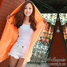 A-Surpriz 抗UV超輕薄連帽防曬衣(橘橙)