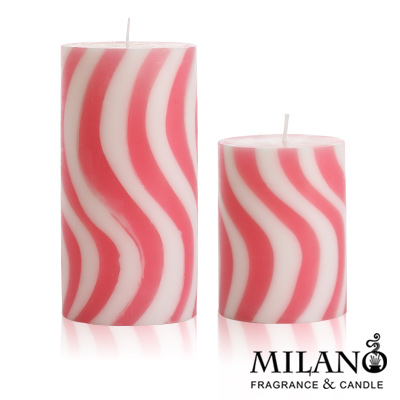 Milano  螺旋曲線香氛手工蠟燭組(忍冬花)