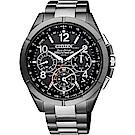CITIZEN星辰 光動能鈦GPS衛星對時手錶((CC9075-52E)-黑x灰/43mm