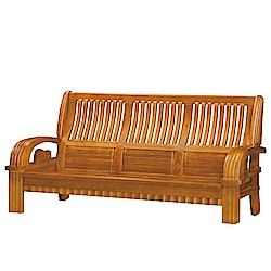 品家居 比格魯檜木實木沙發三人椅-201.5x79x100cm-免組