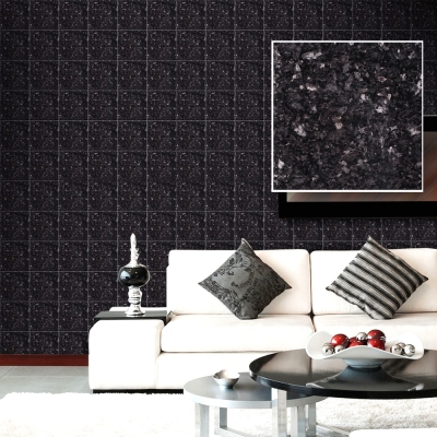 韓國進口DIY防水藝術瓷磚貼 壁貼 石紋黑G 10片