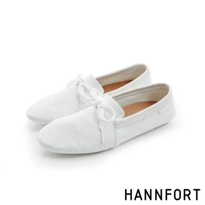 HANNFORT FLEX360簡約學院風平底鞋-女-極簡白