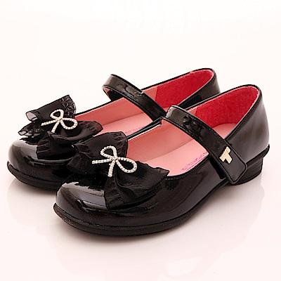 TOPUONE水鑽蕾絲公主鞋 SI18346黑(中大童段)