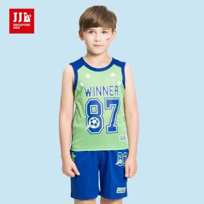 JJLKIDS 籃球小子運動風套裝(綠色)