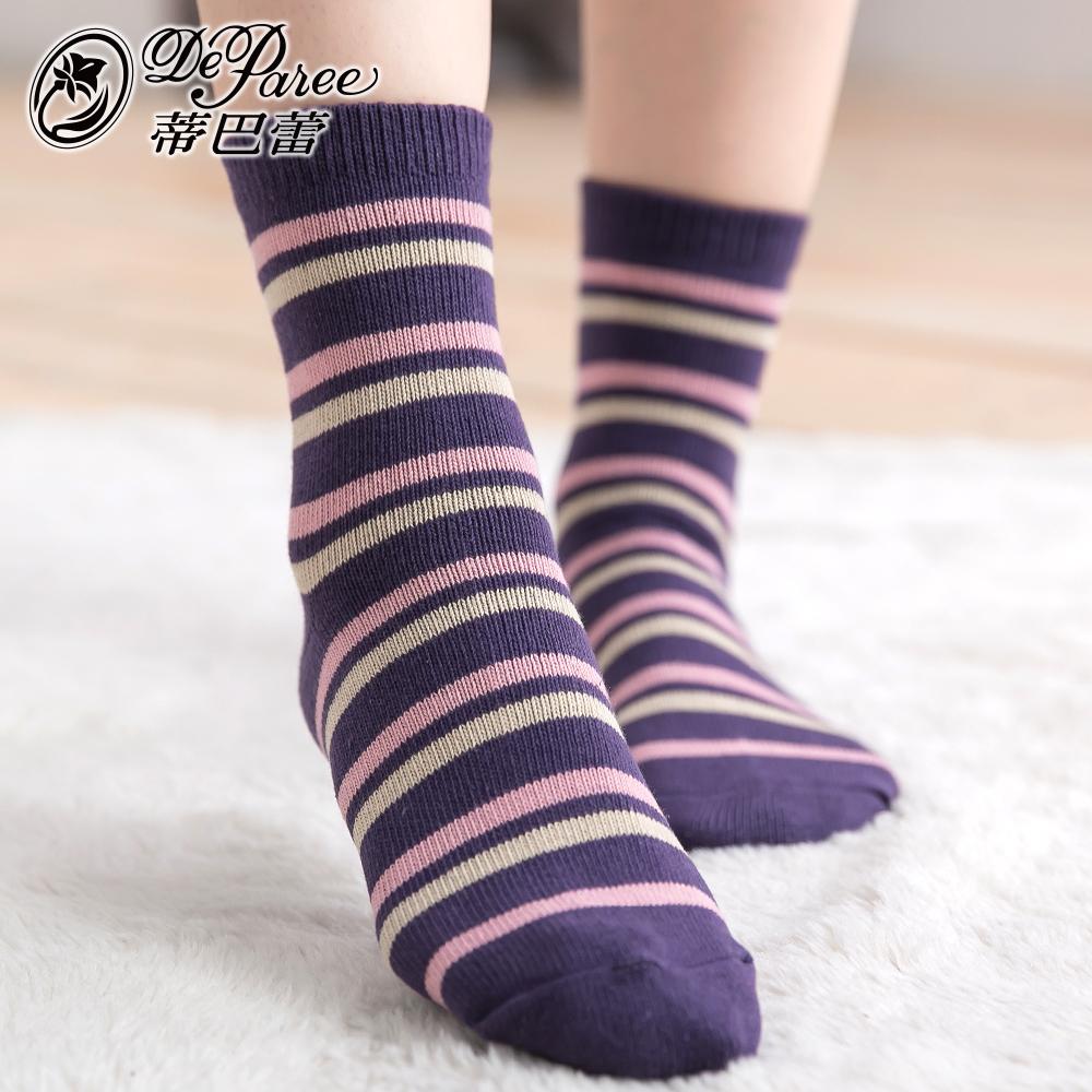 蒂巴蕾 流行女棉襪-細彩條紋 @ Y!購物